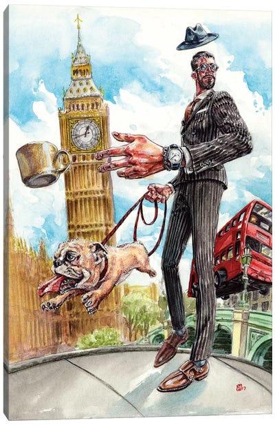 A London Life Canvas Art Print