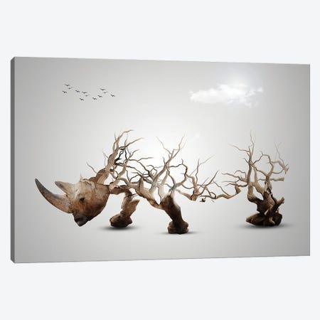 Rhino Canvas Print #SFP25} by Sergio Feldmann Pearce Canvas Wall Art