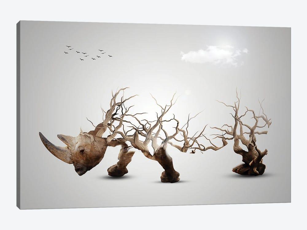 Rhino by Sergio Feldmann Pearce 1-piece Canvas Wall Art