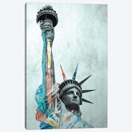 Statue Of Liberty Canvas Print #SFP51} by Sergio Feldmann Pearce Canvas Wall Art