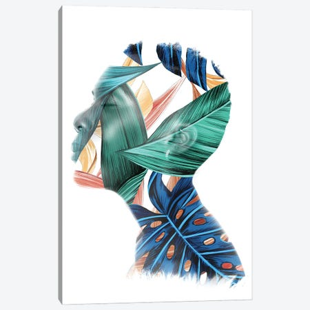 Leafy Canvas Print #SFP65} by Sergio Feldmann Pearce Canvas Artwork