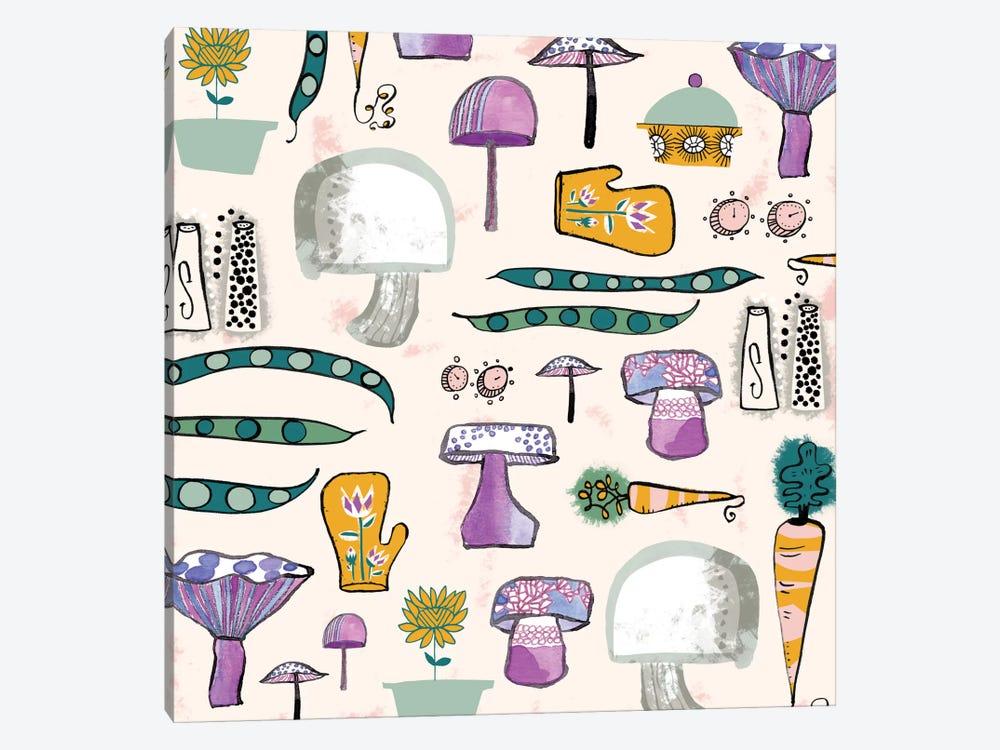 Mushroom Kitchen by Sara Franklin 1-piece Canvas Print