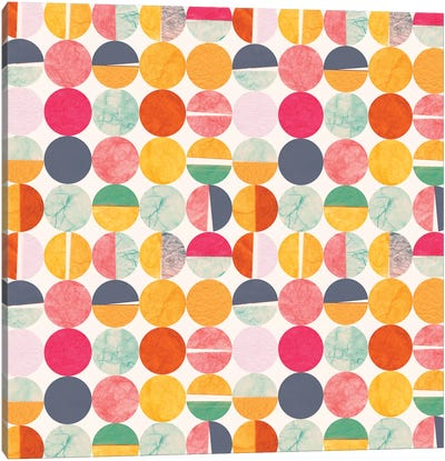 Paper Dots Canvas Art Print