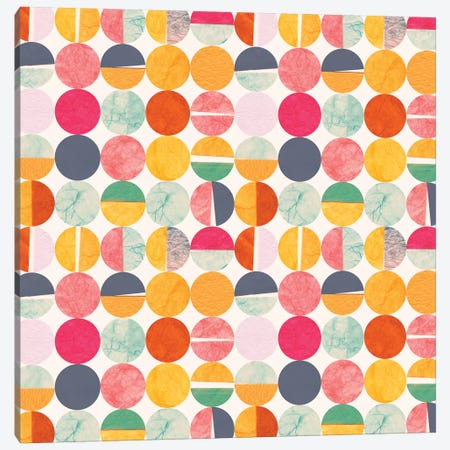 Paper Dots Canvas Print #SFR107} by Sara Franklin Canvas Artwork
