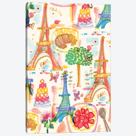 Paris Canvas Print #SFR108} by Sara Franklin Canvas Art Print