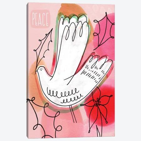 Peace Dove Canvas Print #SFR109} by Sara Franklin Art Print