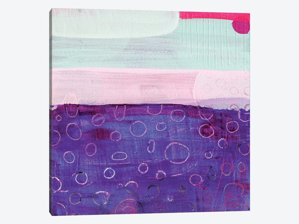 Pink And Purple by Sara Franklin 1-piece Canvas Art