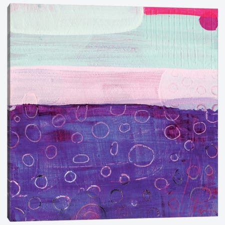 Pink And Purple Canvas Print #SFR113} by Sara Franklin Canvas Wall Art