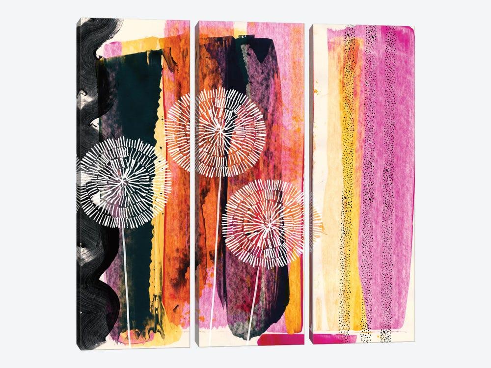 Pink Escape by Sara Franklin 3-piece Canvas Art