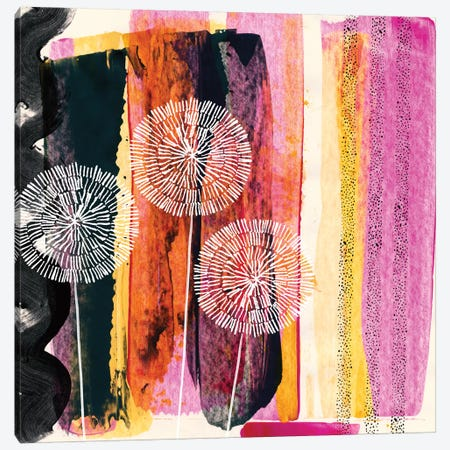 Pink Escape Canvas Print #SFR115} by Sara Franklin Art Print