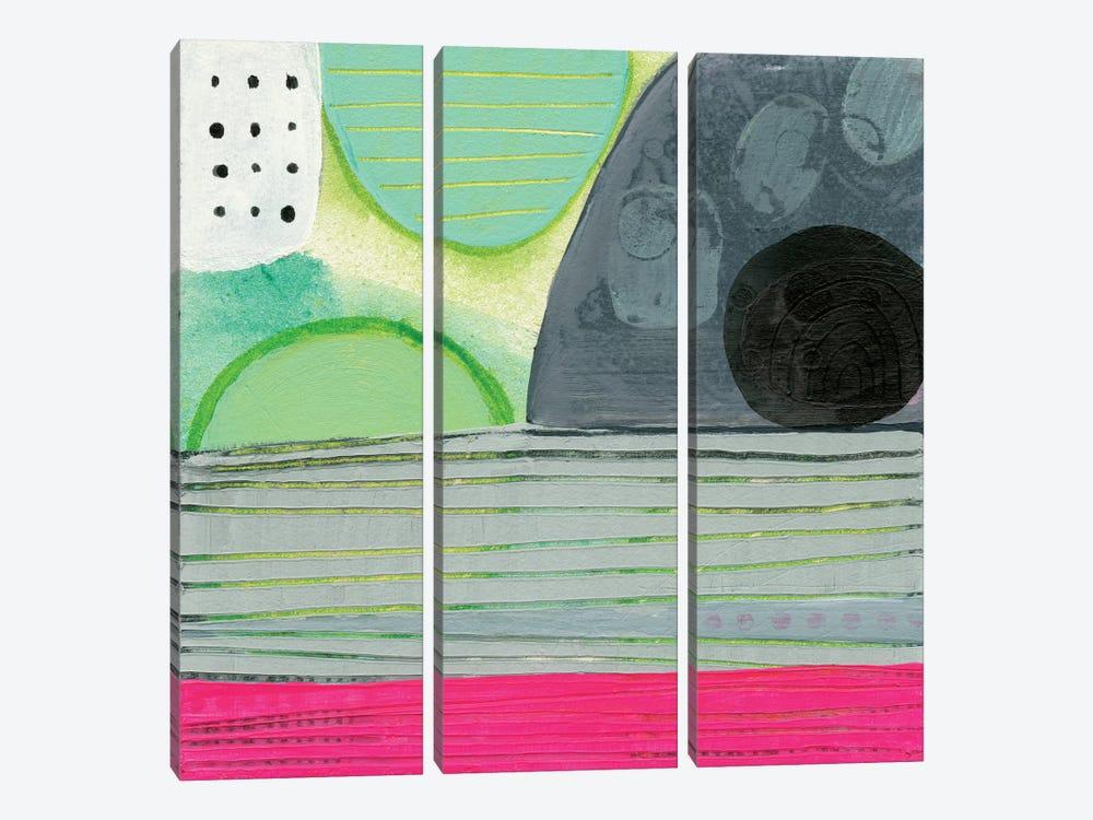 Pink Horizon by Sara Franklin 3-piece Canvas Print