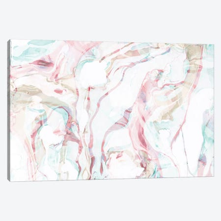 Pink Marble Canvas Print #SFR117} by Sara Franklin Canvas Art Print