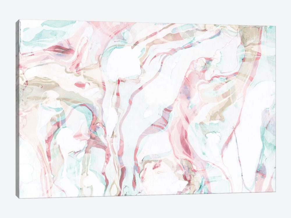 Pink Marble by Sara Franklin 1-piece Canvas Wall Art