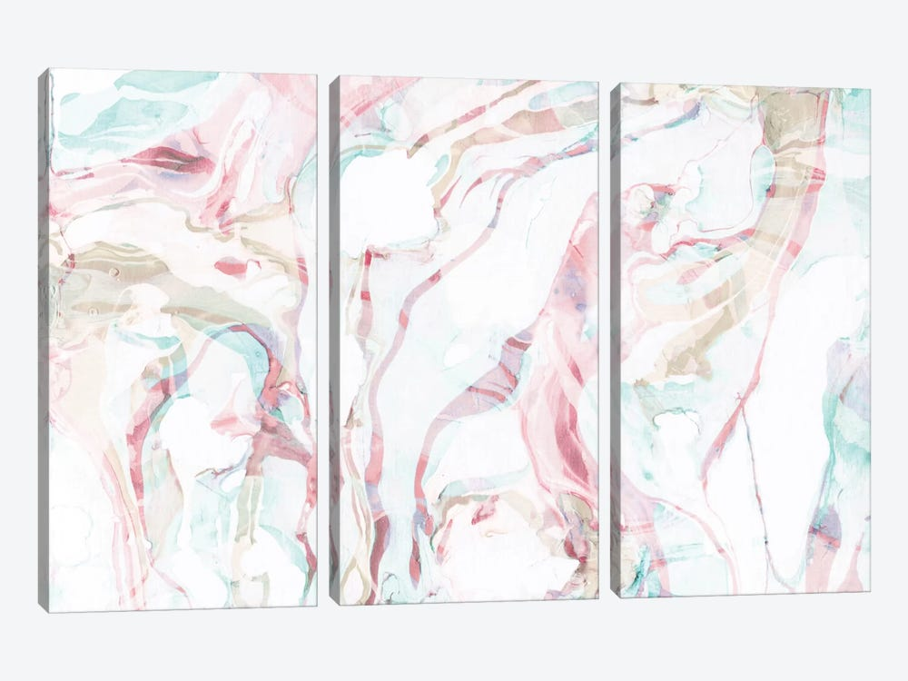 Pink Marble by Sara Franklin 3-piece Canvas Artwork