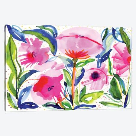 Pink Poppies Canvas Print #SFR118} by Sara Franklin Canvas Artwork