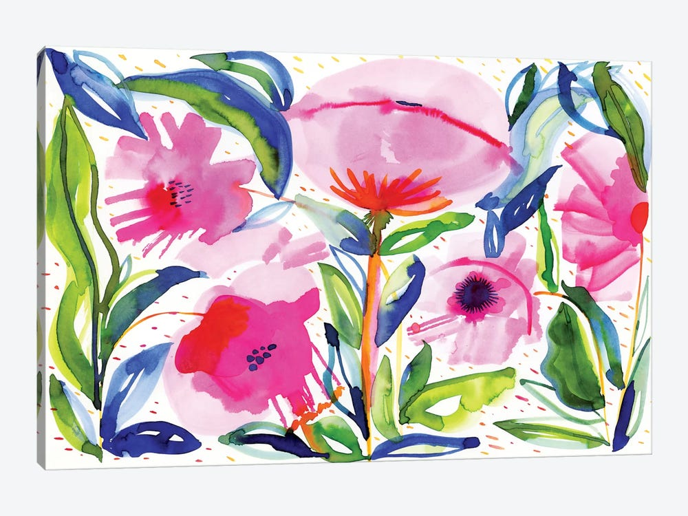 Pink Poppies by Sara Franklin 1-piece Art Print