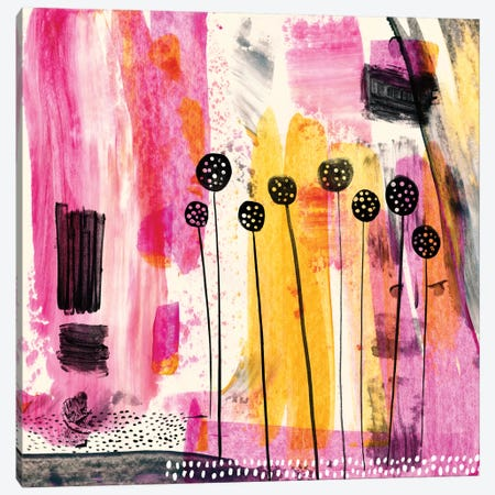 Pink Retreat Canvas Print #SFR119} by Sara Franklin Canvas Wall Art