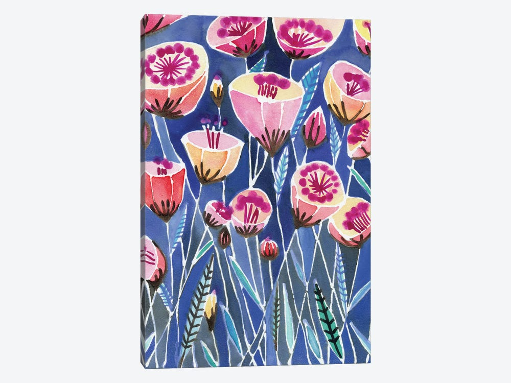 Poppies Of Caliofornia by Sara Franklin 1-piece Canvas Print