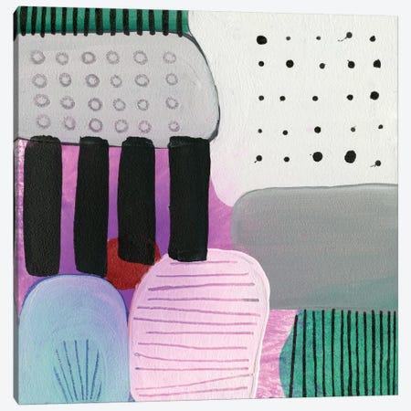 Purple Stripes Canvas Print #SFR125} by Sara Franklin Canvas Wall Art
