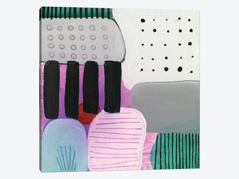 Purple Stripes by Sara Franklin 1-piece Art Print