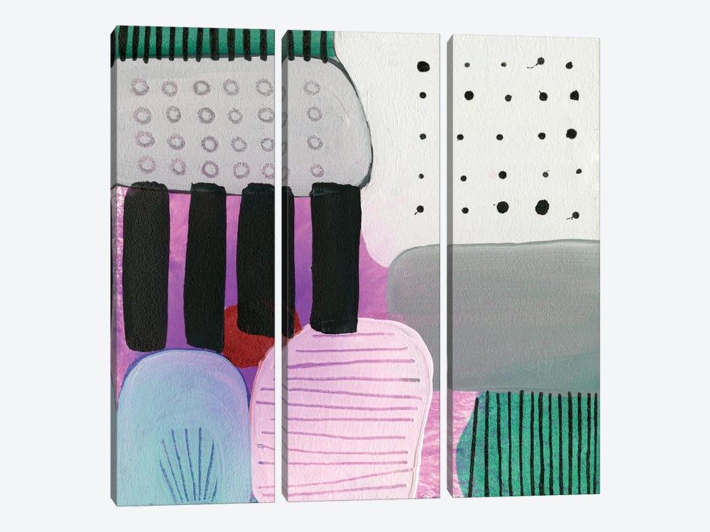 Purple Stripes by Sara Franklin 3-piece Art Print