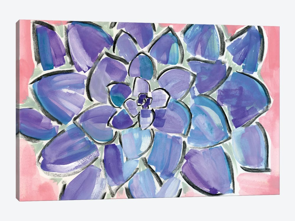 Purple Succulent by Sara Franklin 1-piece Canvas Wall Art