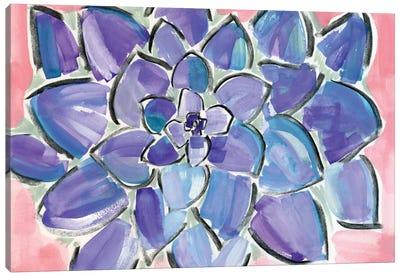 Purple Succulent Canvas Art Print