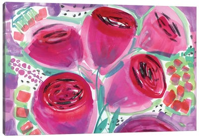 Red Roses Canvas Print #SFR128