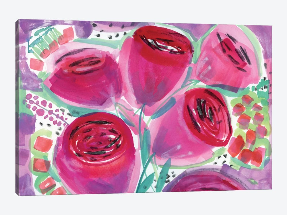 Red Roses by Sara Franklin 1-piece Canvas Artwork