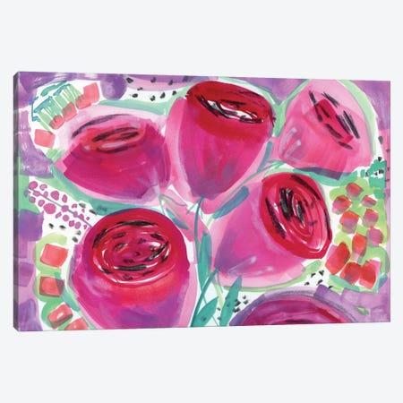 Red Roses Canvas Print #SFR128} by Sara Franklin Art Print