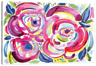 Roses In Bloom Canvas Art Print