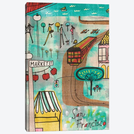 San Francisco Canvas Print #SFR135} by Sara Franklin Canvas Art Print