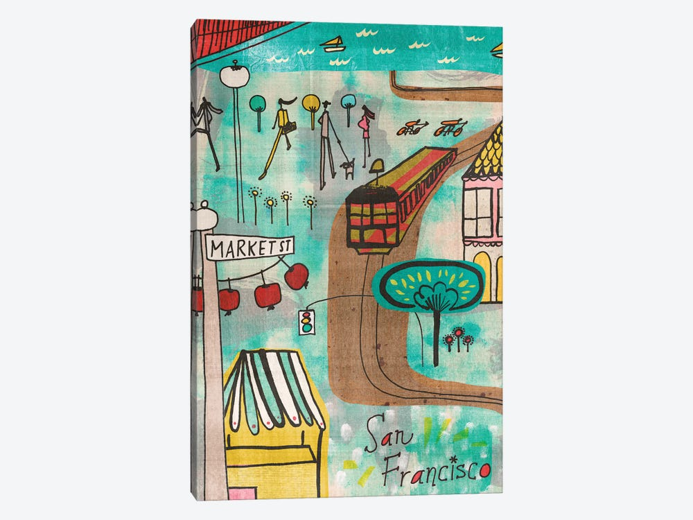 San Francisco by Sara Franklin 1-piece Canvas Art