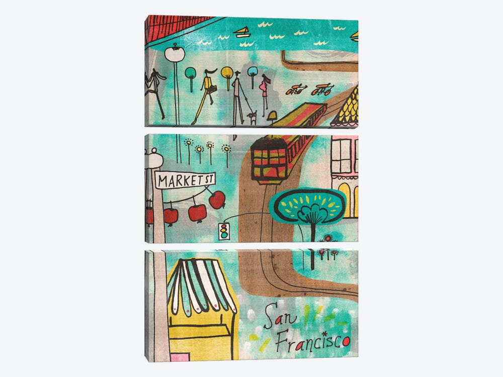 San Francisco by Sara Franklin 3-piece Canvas Art