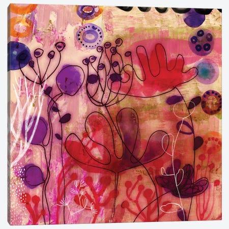 Sea Flowers Canvas Print #SFR136} by Sara Franklin Canvas Art Print
