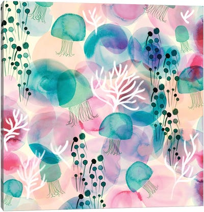 Sea Jellies Canvas Art Print