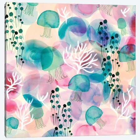 Sea Jellies Canvas Print #SFR137} by Sara Franklin Canvas Print