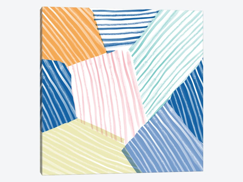 Sea Stripes by Sara Franklin 1-piece Canvas Art