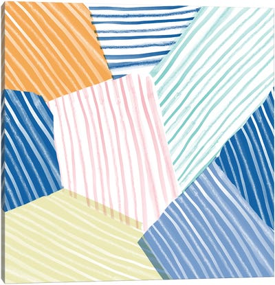 Sea Stripes Canvas Print #SFR139