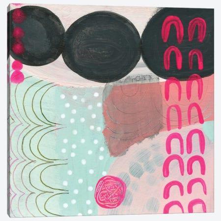 Black Dots Canvas Print #SFR13} by Sara Franklin Canvas Art