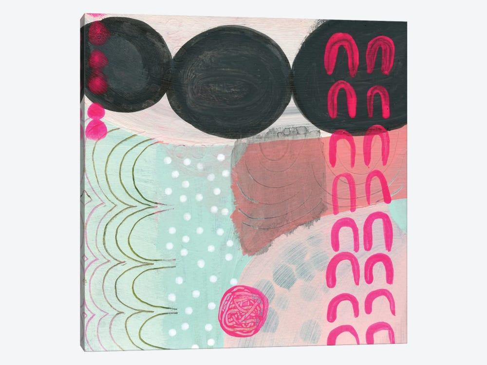 Black Dots by Sara Franklin 1-piece Canvas Artwork