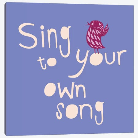 Sing To Your Own Song Canvas Print #SFR141} by Sara Franklin Canvas Art Print