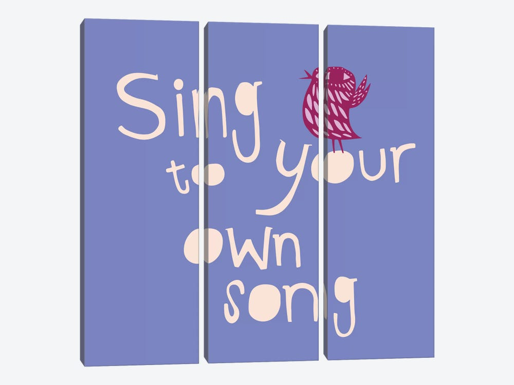 Sing To Your Own Song by Sara Franklin 3-piece Canvas Art Print