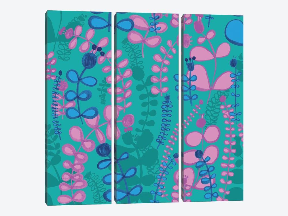Stemmed Florals by Sara Franklin 3-piece Canvas Art Print