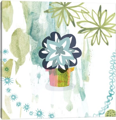 Succulent Flower Canvas Art Print