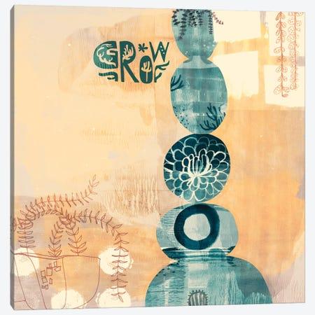 Succulent Stacks Canvas Print #SFR147} by Sara Franklin Canvas Artwork