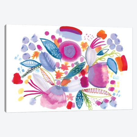 Sweet Honey Canvas Print #SFR150} by Sara Franklin Canvas Wall Art