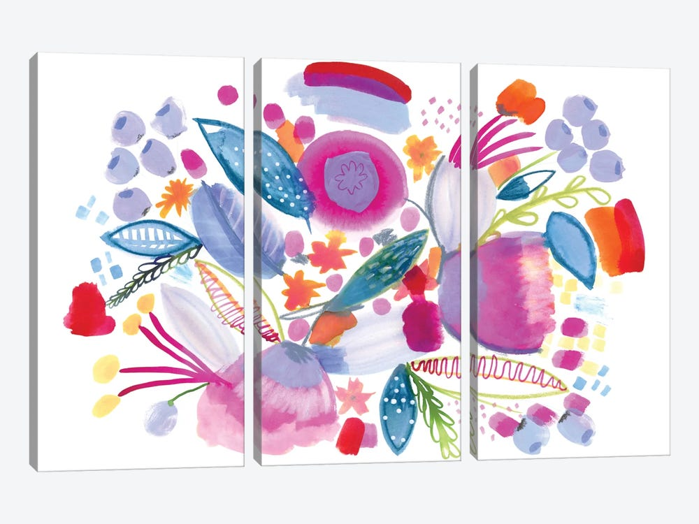 Sweet Honey by Sara Franklin 3-piece Canvas Art Print