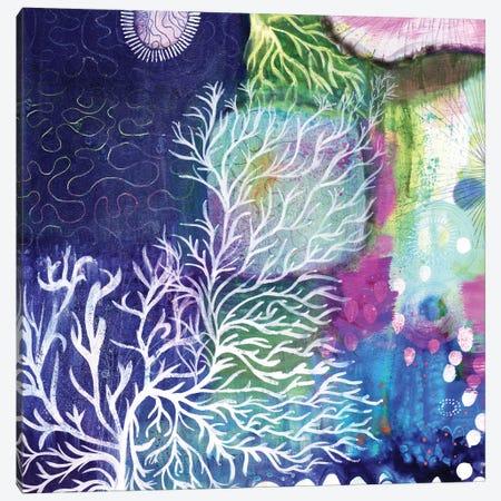 Swim To The Sea Canvas Print #SFR153} by Sara Franklin Canvas Wall Art