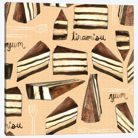 Tiramisu 3-Piece Canvas #SFR156} by Sara Franklin Canvas Art Print